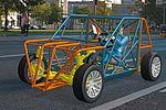 Visualisierung eines Fahrzeugs auf der Straße.